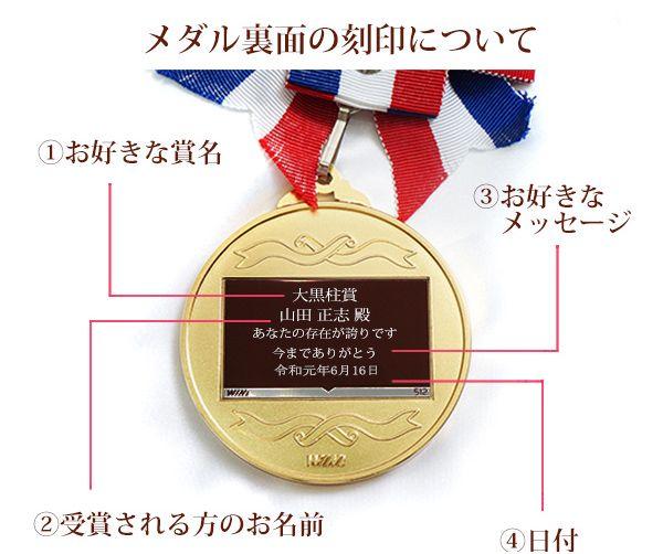 金メダルへの名入れ刻印